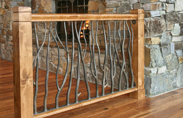 Railings and handrail custom designed and forged of steel ...