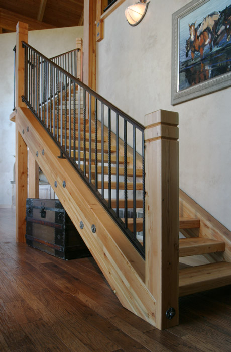 Twist And Post Metal Railing Staircase